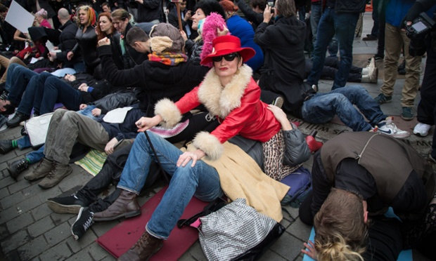 Anti-censorship protest, London, Britain - 12 Dec 2014