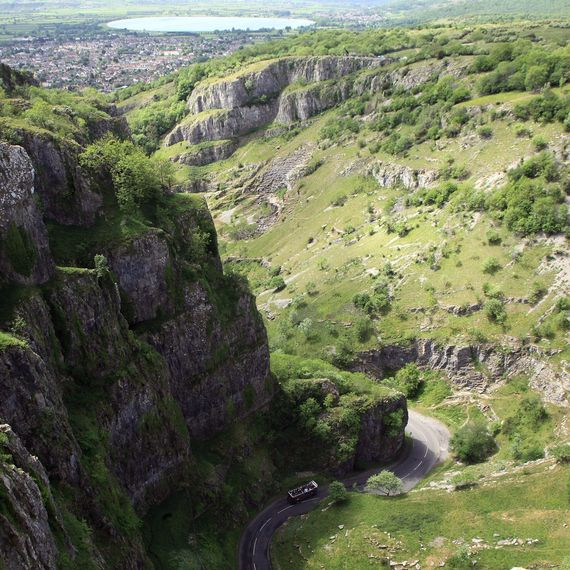 Cheddar Gorge i Somerset'S Mendip Hills.